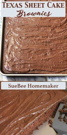 Texas Sheet Cake Brownies are a chocolatey delight and a serious crowd pleaser. This classic recipe comes from Norma Jean's Kitchen, and is one of our special occasion desserts. So moist and delicious every time! Homemade Brownies, Best Brownies, Fudge Brownies, Baking Recipes, Dessert Recipes, Party Recipes, Frosting Recipes, Brownie Cake, Texas Sheet Cake Brownies Recipe