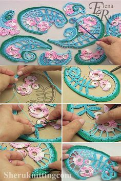 Crochet Irish Project With this video tutorial you will see how to make project in Irish Lace technique. Crochet Irish Project With this video tutorial you will see how to make project in Irish Lace technique. Freeform Crochet, Crochet Motif, Crochet Flowers, Crochet Lace, Doilies Crochet, Crochet Leaf Patterns, Lace Patterns, Clothes Patterns, Dress Patterns