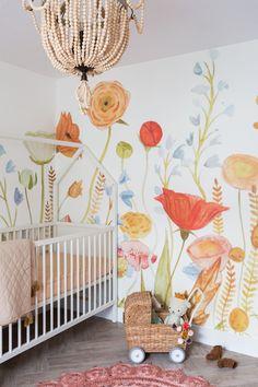 Whimsical Nursery, Floral Nursery, Boho Nursery, Floral Wall, Nursery Room, Nursery Decor, Nursery Wall Murals, Kids Room Murals, Nursery Ideas