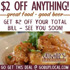 $2 OFF Entrees, Appetizers, Drinks at Junior's Bar & Restaurant in River Falls! http://www.gobuylocal.com/offerseo/River_Falls-WI/Junior%27s_Bar_and_Restaurant/2344/1162/ #riverfalls #juniorsbar #appetizers
