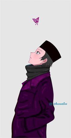 Hijab Cartoon, Cartoon Boy, Anime Girl Cute, Anime Guys, Love Cartoon Couple, Islamic Posters, Cute Muslim Couples, Islamic Cartoon, Boy Drawing