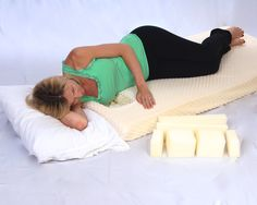 The mattress topper allows you to sleep on your side with drains or allows you to nurse your baby. Surgery Recovery, Breast Cancer, Breastfeeding, Mattress, Bed Pillows, Toddler Bed, Sleep, Baby, Breast Feeding