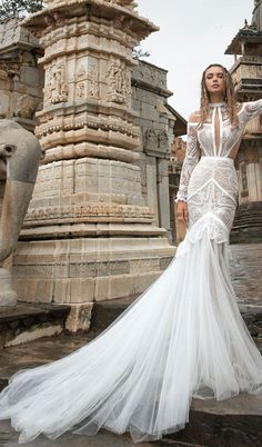 lior charchy India 2018 bridal long sleeves high neck full embellishment bohemian mermaid wedding gown : Lior Charchy 2018 Wedding Dresses #weddingdress #wedding #weddingdresses