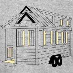 Tiny House Tiny Living the New Big Tiny Living, Tiny House, Men's Fashion, Sweatshirt, House Styles, Illustration, Clothing, Design, Men Fashion
