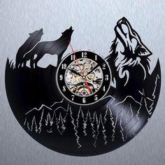 Wolf Record Wall Clock