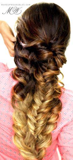 Easy Mermaid Braid Tutorial | Cute Everyday Braided Hairstyles