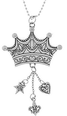 Cool  Custom 7 Chain Hang Single Unit of Rear View Mirror Hanging Ornament Decoration Made of Zinc Alloy w Royal Crown Engraved Fancy Tiara w Charms Design Suzuki Silver Colored ** You can get more details by clicking on the image.Note:It is affiliate link to Amazon.
