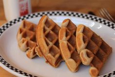 Gluten free brown sugar waffles are my new favorite breakfast. They are sweet enough that they are perfect on their own, so they make a great grab & go meal