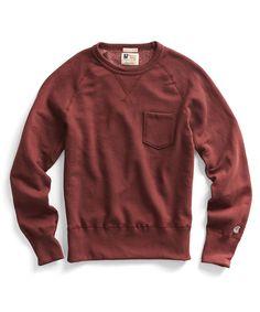 Todd Snyder x Champion Pocket Sweatshirt: Crimson