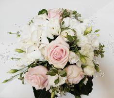 Bouquet Mariée pastel rose et blanc