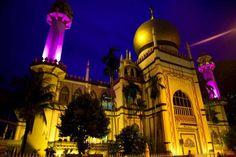 Sultan Mosque, Singapore @ night