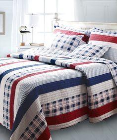 Nevis Stripe Reversible Quilt Set