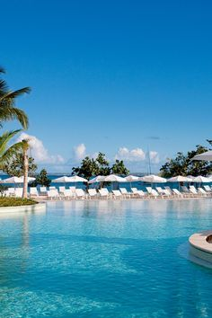 Riu Blu features the largest infinity pool on the island. #Jetsetter Riu Palace (St Martin)