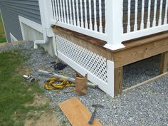 lattice skirting on house | PVC Porch Skirt Detail Porch Skirt for Farmers Porch