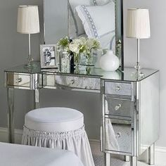 Find This Pin And More On VANITIES By Thawtin. VANITY MAKEUP TABLE Dressing  Table A Mirrored ...