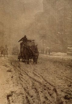 Winter on Fifth Avenue, New York City, 1892.