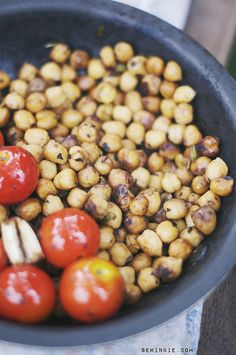 Balsamic Chickpeas. These are ridiculously good. I started eating them right out of the skillet and couldn't stop.