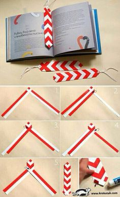 Super diy paper bookmarks easy origami ideas – How to make Kids Crafts, Cute Crafts, Diy And Crafts, Craft Projects, Creative Ideas For Projects, Creative Bookmarks, Paper Bookmarks, How To Make Bookmarks, Homemade Bookmarks