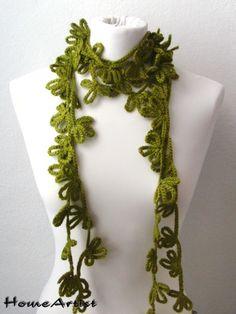 Schal Kette  gehäkelt-Blumen