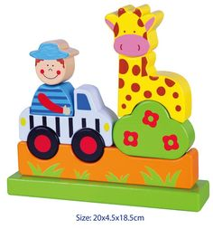 3D MAGNETIC Wooden EDUCATIONAL Toy TODDLER PRESCHOOL PUZZLE - ZOO -  This gorgeous educational wooden puzzle contains 10 magnetic pieces that can be stacked together into a zoo scene. The pieces are easy to handle for little hands and are painted in bright vibrant colours.  This toy will help your child develop their fine and gross motor skills, logical thinking and seriation abilities.