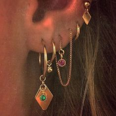 Karo ♦ ohrring - H - Jewels - Piercing Ear Jewelry, Cute Jewelry, Jewelry Accessories, Trendy Jewelry, Jewelry Shop, Fashion Jewelry, Jewelry Ideas, Hipster Jewelry, Silver Jewelry