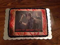 Daryl from The Walking Dead cake.