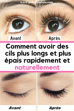 Voici comment avoir des cils plus longs et plus épais rapidement et naturellement #cils #epais #long #beauté #astuce Clean Beauty, Diy Beauty, Beauty Skin, Beauty Hacks, Deep Hair Conditioner, Hair Growth Treatment, Good Hair Day, Olay, Skin Tips