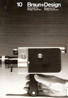 Braun+Design, Issue 10, May 1988 | Cover featuring a Nizo EA 1 film camera, 1964