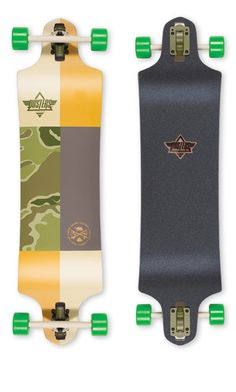 On Special This Week Save  70.00! Dusters Scout Kryptonic Green Longboard  Complete 38