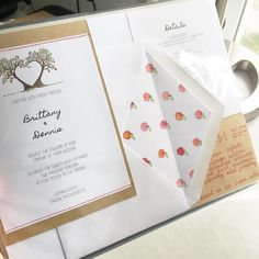 Apple Orchard Farm Rustic Vintage Wedding Invitation Suite by Earnest Bee Calligraphy + Design