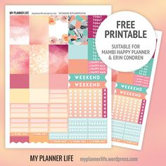 FREE Printable Peaches by My Planner Life