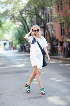 Casual summer chic in NYC