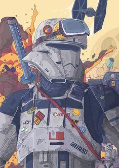 ArtStation - Star Wars Imperial Hovertank Pilot, Tomas Ciger Eniac