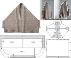 p/ponchos-cardigan-knitting-bluse-lace-hakeln delivers online tools that help you to stay in control of your personal information and protect your online privacy. Poncho Crochet, Crochet Shrug Pattern, Cardigan Pattern, Jacket Pattern, Knitting Patterns, Sewing Patterns, Crochet Patterns, Crochet Blouse, Crochet Lace