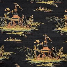 Dharma Raven by Magnolia Fabric our website for purchase 73 Rayon 15 Cotton 12 Polyester USA Horizontal: and Vertical: - Fabric Carolina - Chinoiserie, Waverly Fabric, Winter Painting, To Color, Drapery Fabric, Chinese Art, Damask, Magnolia, Manualidades