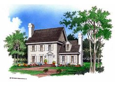 Eplans Georgian House Plan - Colonial Classic - 1763 Square Feet and 3 Bedrooms from Eplans - House Plan Code HWEPL07276