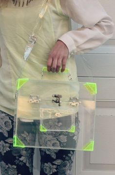 Neon clear bag