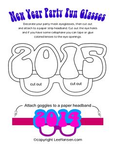 New Year Party Fun Glasses