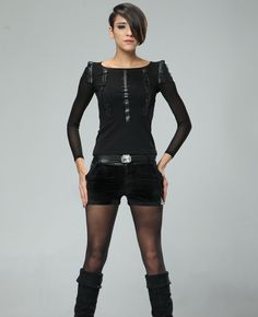 Crystals-encrusted Leather-block Shorts with Belt | BlackFive
