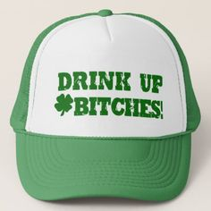 Shop Funny St Patricks Day Drinking Trucker Hat created by CyKosisGraphics. Personalize it with photos & text or purchase as is! Hockey Crafts, St Patrick's Day, Detective Agency, St Paddys Day, Custom Hats, Funny Tees, Funny Golf, Party Hats, Look Cool