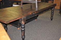 Custom Pine Farmhouse Table w/Drawer Leaves