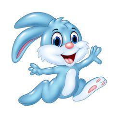 Cute cartoon rabbit vector design 02