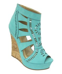 Another great find on #zulily! Turquiose Celia Wedge Sandal #zulilyfinds