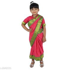 Lehenga Cholis  Charming Kid's Girls Saree   *Fabric* Cotton Blended  *Sleeves* Sleeves Are Included  *Size* Age Group (3 - 4 Years) - 22 in Age Group (5 - 6 Years) - 26 in Age Group (6 - 7 Years) - 28 in  *Type* Stitched  *Description* It Has 1 Piece Of Kid's Girl's Saree & 1 Piece Blouse  * Work * Printed  *Sizes Available* 2-3 Years, 3-4 Years, 4-5 Years, 5-6 Years, 6-7 Years, 7-8 Years, 8-9 Years, 9-10 Years, 10-11 Years, 11-12 Years, 0-1 Years, 1-2 Years *    Catalog Name:  Princess Charming Kid's Girls Saree  Vol 1 CatalogID_298337 C61-SC1137 Code: 045-2242550-