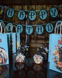 Hotel Transylvania 3 Inspired Happy Birthday Banner / Happy Birthday Banners, 5th Birthday, Birthday Parties, Birthday Ideas, Hotel Transylvania Party, Hotel Party, Party Ideas, Inspired, Inspiration
