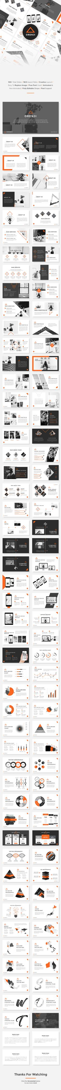 Orenji Creative Google Slides Template — Google Slides PPTX #ppt #presentation template • Available here ➝ https://graphicriver.net/item/orenji-creative-google-slides-template/20921234?ref=pxcr