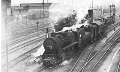A BR 52 locomotive at work during war time