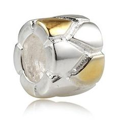 Babao Jewelry Unique 925 Sterling Silver Bead with 18K Gold Plated fits Pandora European Charm Bracelets *** Want additional info? Click on the image.