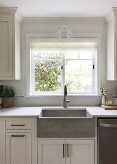 Cement Farmhouse Kitchen Sink Windows By Milgard Coco Kelley Remodel Pantry