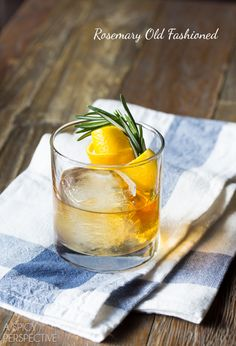 A Spicy Perspective Rosemary Old Fashioned - A Spicy Perspective